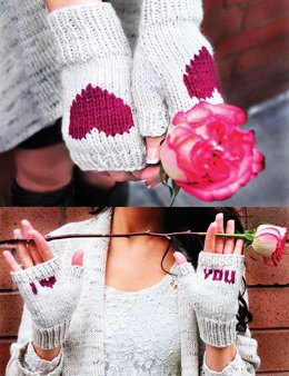Be My Valentine Flirty Fingerless Gloves with Vday Messages