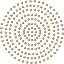 Artdeco Creations Couture Creations Adhesive Pearls 2mm 424/Pkg - Deep Gold