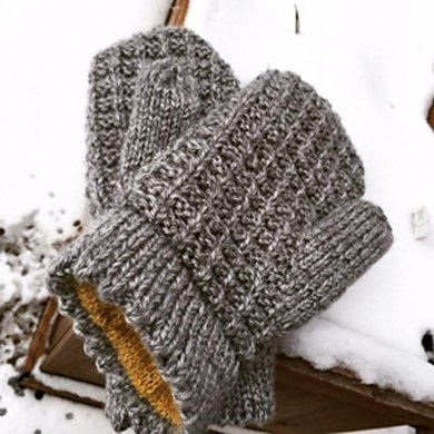 Honey Lined Waffle Mittens Knitting Pattern By Jackie Henderson