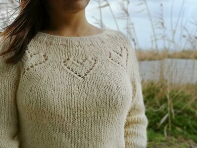 Fluffy Hearts Sweater