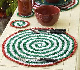 Pinwheels for Table and Tree in Red Heart Holiday - LW1898 - Downloadable PDF