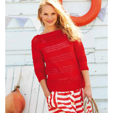 Ladies' Sweater And Tops in Rico Essentials Cotton DK - 157