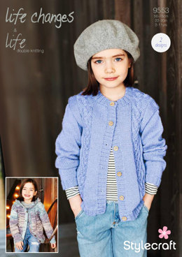 Cardigans in Stylecraft Life DK & Life Changes - 9553 - Downloadable PDF