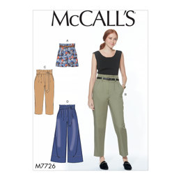 McCall's Misses' Shorts, Pants and Sash M7726 - Sewing Pattern