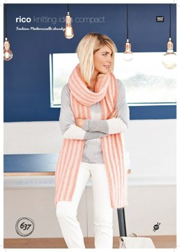 Scarf in Rico Fashion Mademoiselle Chunky - 637 - Leaflet