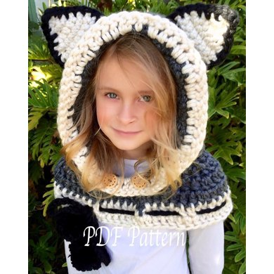 Hooded Cowl - Camille The Cat