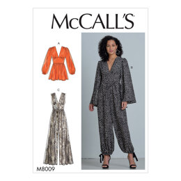 McCall's Misses' Romper and Jumpsuits M8009 - Sewing Pattern