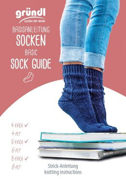 Grundl Basic Socks Guide in Gründl Wolle - Downloadable PDF