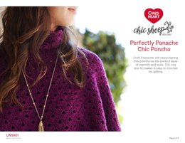Perfectly Panache Chic Poncho in Red Heart Chic Sheep - LW5901 - Downloadable PDF