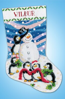 Design Works Dressing Frosty Stocking Counted Cross Stitch Kit