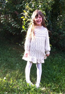 Anamchara - opulent Girl's Cable Jumper / Sweater