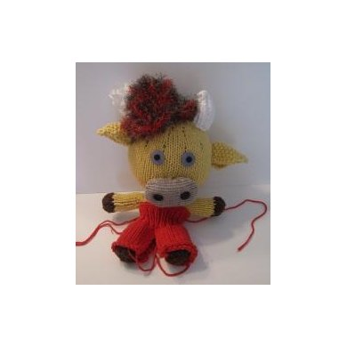 Knitkinz Yellow Cow