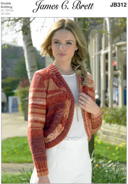 Ladies Cardigan in James C. Brett Woodlander DK - JB312 - Leaflet