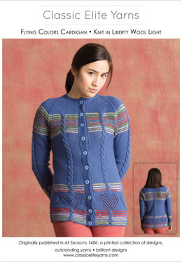 Flying Colors Cardigan in Classic Elite Yarns Liberty Wool Light