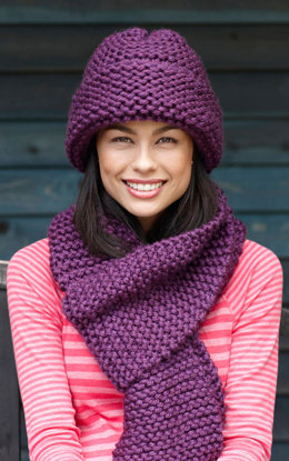 Beginner Hat and Scarf in Lion Brand Hometown USA - L20101