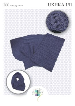 Cabled Cowl in King Cole DK - UKHKA151pdf - Downloadable PDF