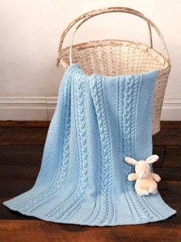 Little Boy Blue Baby Blanket in Caron Simply Soft