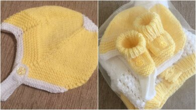 Baby Helmet and Booties 0-3mths and 3mths plus