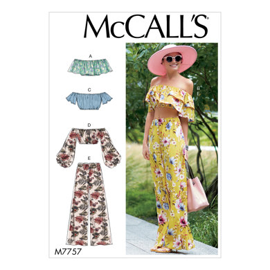 McCall's Misses' Tops and Pants M7757 - Sewing Pattern