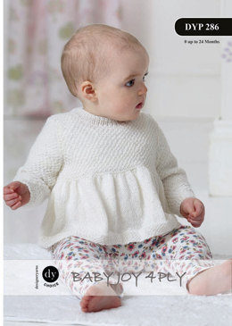 Flare Sweater and Cardigan in DY Choice Baby Joy 4 ply 100g - DYP286 - Leaflet