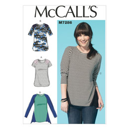 McCall's Misses' Tops M7286 - Sewing Pattern