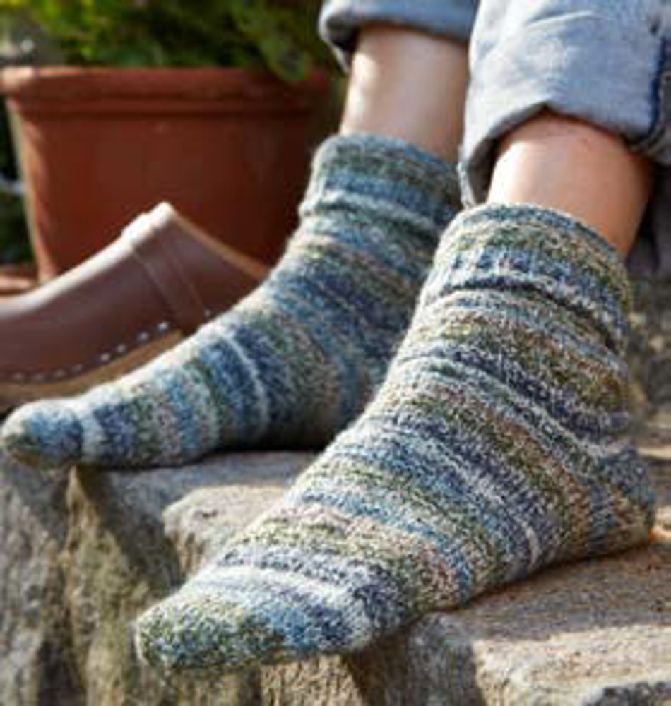 Socken im Webmuster in Regia 4-Ply Countrylife Color