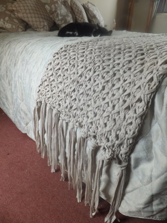 Bed Runner Knitting Project By Lorraine H Loveknitting
