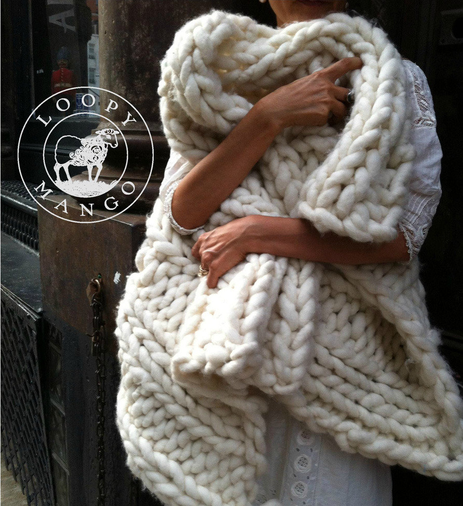 Throws and Rug in Loopy Mango Big Loop | Knitting Patterns ...