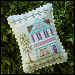 Country Cottage Needleworks Main Street Baker Cross Stitch Chart - Leaflet