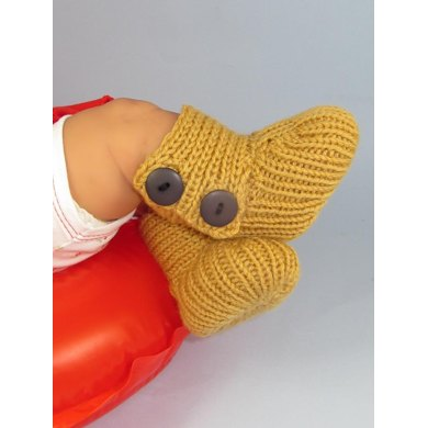 Baby All Rib Button Up Booties (Bootees)