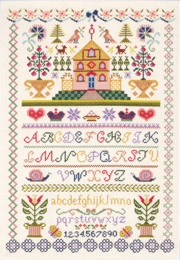Anchor Christmas Sampler Cross Stitch Kit - 31cm x 46cm
