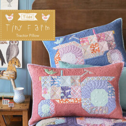 Tilda Patch Tractor Pillow - Tiny Farm Collection