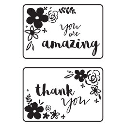 """Kaisercraft Embossing Folder 4""""X6"""" - Mini Floral Card Fronts"""