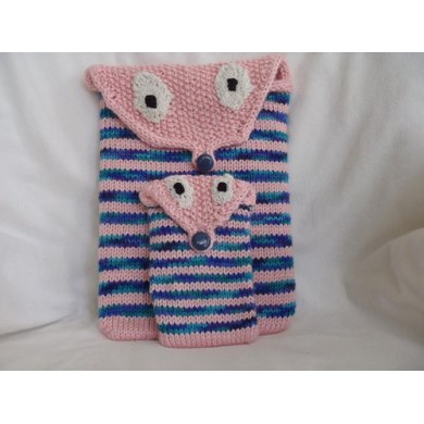 Owlie Tablet or I-Pad and Phone or I-phone Cover