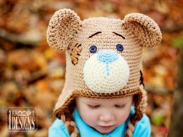 Classic Teddy Bear Hat - Crochet PDF Pattern