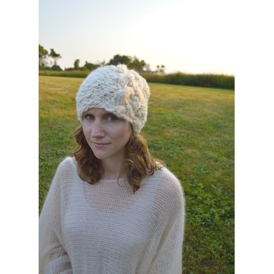Cable Slouch Hat in Knit Collage Sister Yarn