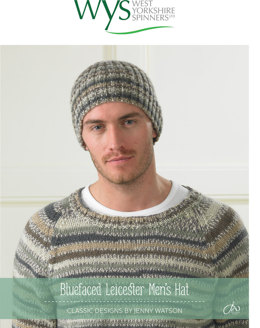Mens Hat in West Yorkshire Spinners Bluefaced Leicester DK Country Birds Collection - Downloadable PDF