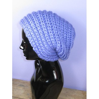 Super Chunky Side Rib Slouch Hat
