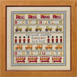 Historical Sampler Company Soldier Soldier Birth Sampler Cross Stitch Kit