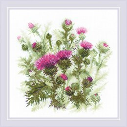 Riolis Thistle Cross Stitch Kit - 30cm x 30cm