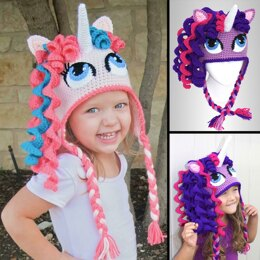 Crochet Unicorn / Pony Hat