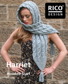 Harriet Hooded Scarf in Rico Essentials Alpaca Blend Chunky - Downloadable PDF