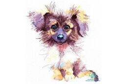 Oven Fluffy Puppy Cross Stitch Kit