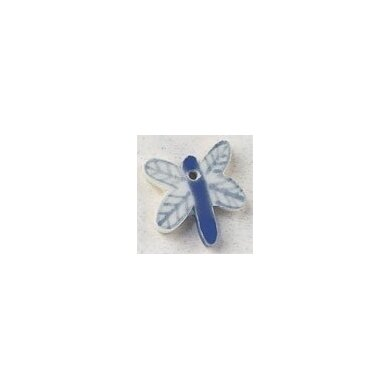 Mill Hill Button 86359 - Blue Dragonfly