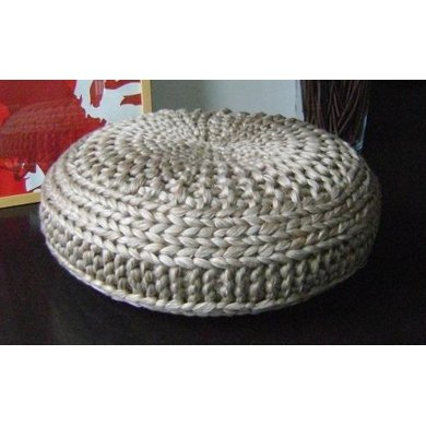 Knitted Extra Large Pouf Pattern, Poof, Knitting, Ottoman, Footstool ...