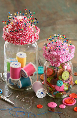 Pin-Cushion Jar Topper in Aunt Lydia's Baker's Cotton - LC4322 - Downloadable PDF