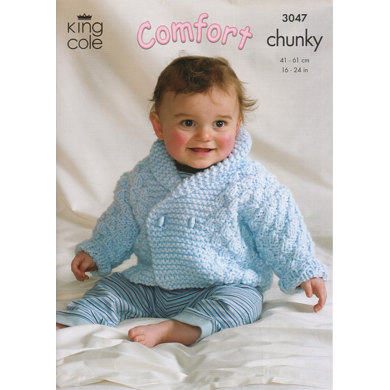Jacket, Cardigan and Sweater in King Cole Comfort Chunky - 3047