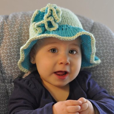 Cotton Knit Sunhat (size 0-12mo)