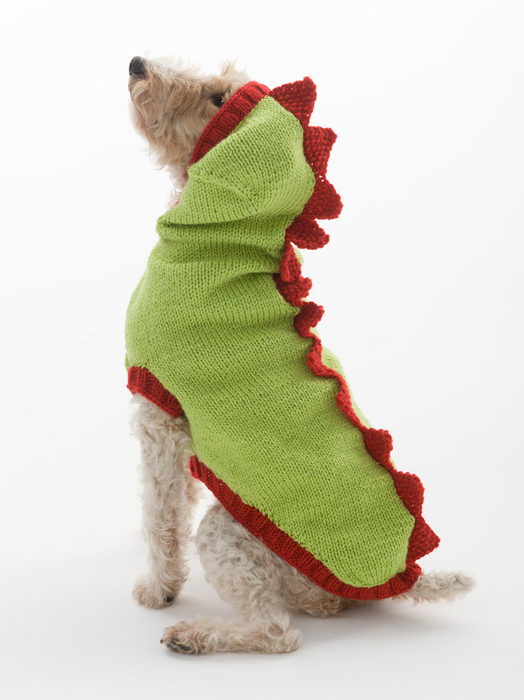 Dragon Slayer Dog Sweater in Lion Brand Wool Ease - L30274 ...