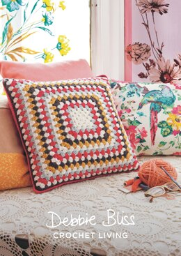 Simple Square Cover in Debbie Bliss Rialto DK - DBS064 - Downloadable PDF